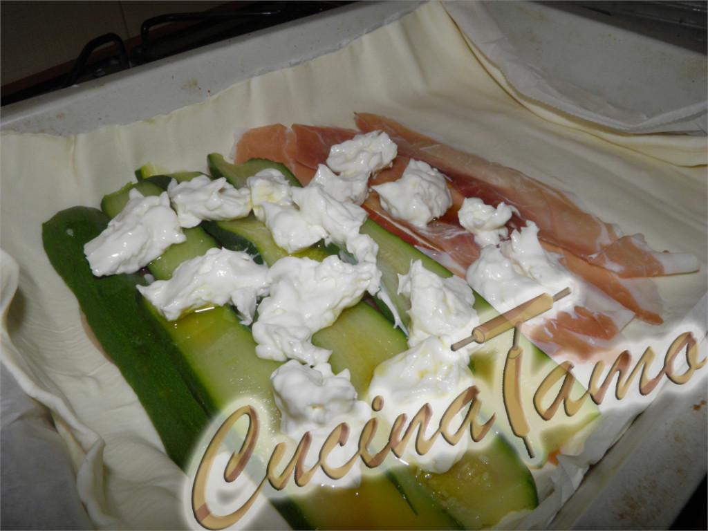 Rustico di speck e zucchine