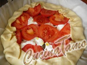 Quiche mediterranea con melanzane e peperoni