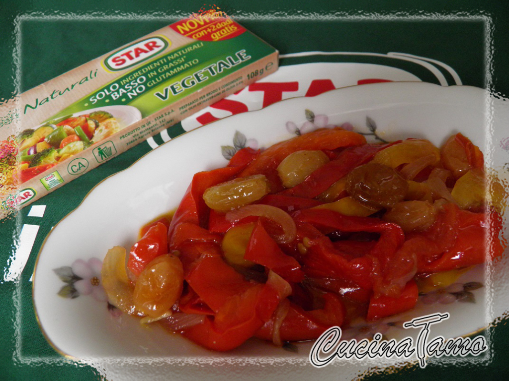 Peperoni in agrodolce con uvetta